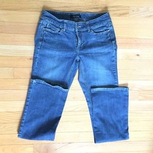White House Black Market Faded Blue Low Rise Jeans